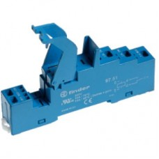 Розетка (пружинный зажим) для реле 46.61; применяются модули 86.30; 99.02; мет. клипса 097.71; версия: синий цвет; 9751SMA