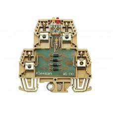 110010, Клеммник 2-х ярусный с электронными компонентами (схема 1); WG-EKI (упак 20 шт)