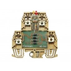 110040, Клеммник 2-х ярусный с электронными компонентами (схема 4); WG-EKI (упак 20 шт)