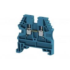 304121, Клеммник на DIN-рейку 2,5мм.кв. (синий); AVK2,5 (упак 100 шт)