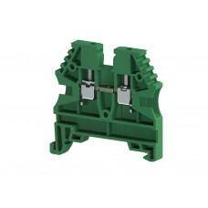 AVK2,5; Клеммник на DIN-рейку 2,5мм.кв. (зелёный). (упак. 100 шт.); 304122
