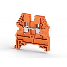 Клеммник на DIN-рейку 2,5мм.кв. (оранжевый); AVK2,5 (упак. 100 шт.); 304127