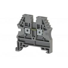 AVK4; Клеммник на DIN-рейку 4мм.кв. (серый). (упак. 100 шт.); 304130