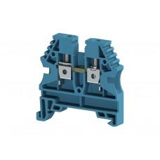 AVK4; Клеммник на DIN-рейку 4мм.кв. (синий). (упак. 100 шт.); 304131