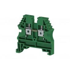 AVK4; Клеммник на DIN-рейку 4мм.кв. (зеленый). (упак. 100 шт.); 304132