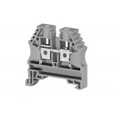AVK6; Клеммник на DIN-рейку 6мм.кв. (серый) (упак. 100 шт.); 304140