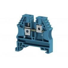 AVK6; Клеммник на DIN-рейку 6мм.кв. (синий). (упак. 100 шт.); 304141