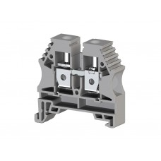304150, Клеммник на DIN-рейку 10мм.кв. (серый); AVK10 (упак 100)