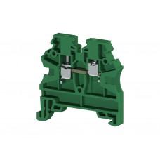 Клеммник на DIN-рейку 2,5мм.кв. (зеленый); AVK2,5 RD (упак. 100 шт.); 304202