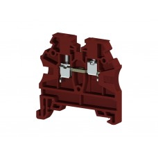 304204, Клеммник на DIN-рейку 2,5мм.кв. (красный); AVK2,5 RD  (упак 100 шт)