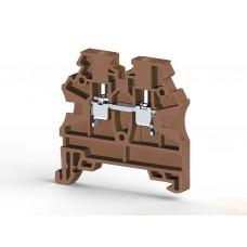 Клеммник на DIN-рейку 2,5мм.кв. (коричневый); AVK2,5 RD (упак. 100 шт.); 304208