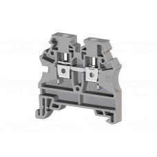 AVK4 RD; Клеммник на DIN-рейку 4мм.кв. (серый). (упак. 100 шт.); 304210