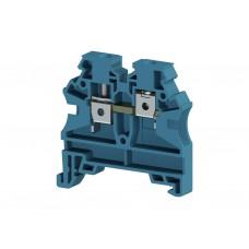 AVK4 RD; Клеммник на DIN-рейку 4мм.кв. (синий). (упак. 100 шт.); 304211