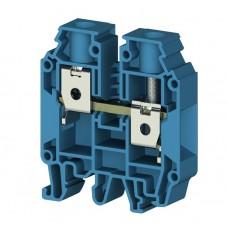 304291, Клеммник на DIN-рейку 25мм.кв. (синий); AVK25 RD  (упак 50 шт)