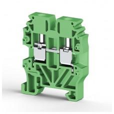 304422, Миниклеммник винтовой 2,5 мм.кв (зелёный); MVK2,5 (упак 100)