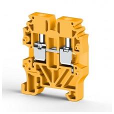304423, Миниклеммник винтовой 2,5 мм.кв (жёлтый); MVK2,5 (упак 100)