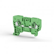 306232, Клеммник пружинный 4мм.кв. (зеленый); YBK4  (упак 100 шт)