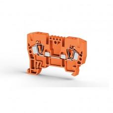 306237, Клеммник пружинный 4мм.кв. (оранжевый); YBK4  (упак 100 шт)