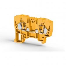 306243, Клеммник пружинный 6мм.кв. (желтый); YBK6 (упак 100)