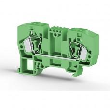 306252, Клеммник пружинный 10мм.кв. (зеленый); YBK10 (упак 50)