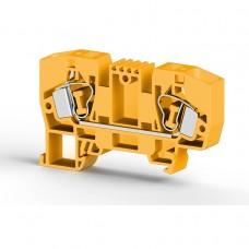 306253, Клеммник пружинный 10мм.кв. (желтый); YBK10 (упак 50)