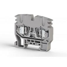 306429, Миниклеммник пружинный на DIN-рейку (MR15), 2,5 мм.кв. (серый); MYK2,5 (упак 50)