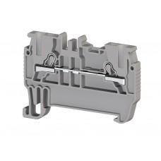 307019, Клеммник пружинный быстрозажимной (Push in), 1,5 мм.кв. (серый); PYK1,5M (упак 100)