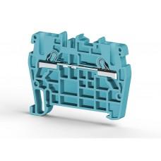 307101, Клеммник пружинный быстрозажимной (Push in), 2,5 мм.кв. (синий); PYK2,5 (упак 100)
