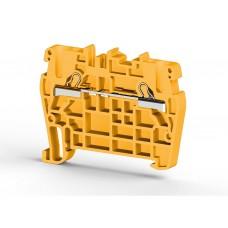 307103, Клеммник пружинный быстрозажимной (Push in), 2,5 мм.кв. (желтый); PYK2,5 (упак 100)