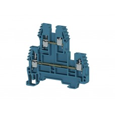 317101, Клеммник 2-х ярусный, 2,5мм.кв. (синий); PIK2,5N (упак 100)