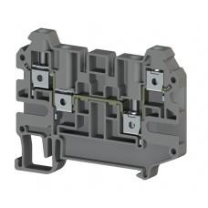 Клеммник 3-х выводной, 4мм.кв., (серый); AVK 4C (упак. 50 шт.); 325109