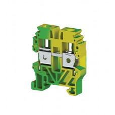 Клеммник винтовой мини 4мм.кв. (земля); MVK 4T (упак. 50 шт.); 334430