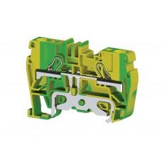 336520, Клеммник пружинный быстрозажимной (Push in), 6 мм.кв., (земля); PYK6T (упак 60 шт)
