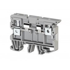 Клеммник с держателем предохранителя (5x20, 5x25) на DIN-рейку, 6 мм.кв. (серый); ASK 2S (упак. 50 шт.); 351109
