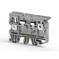 Клеммник с держателем предохранителя (5х20, 5х25) с индикацией 24VDC на DIN-рейку, 6 мм.кв. (серый); ASK 2LD (24 VDC) (упак. 25 шт.); 351229
