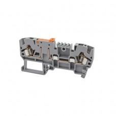 353209, Клеммник пружинный с размыкателем на DIN-рейку, 2,5 мм.кв. (серый); YBK 2,5A (упак 50 шт)