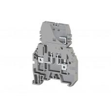 Клеммник с держателем предохранителя (5х20, 5х25), съём.картридж, на DIN-рейку, 4 мм.кв., (серый); ASK 3F (упак. 30 шт.); 354109