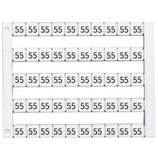 505030, Горизонтальная маркировка (10, 20, …100), DY5, 1 пластина - 50 шт. (упак 500)