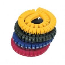 Маркировка кабеля (кольцо) KEB 1 (0,5...1,5 мм.кв.), без надписей, (белый), (уп. 500 шт.) ; 519519