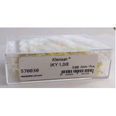 Наконечник изолированный IKY 1,0/8 (упак. 500 шт.); 570030