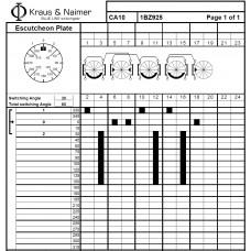 Переключатель CA10-1BZ925-600 E +F025