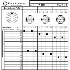 Переключатель A14 A-C284-000 KD1 +S1 M470/A2B2