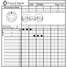 Переключатель CA20-SF3632-600 E +S0 V845/A21/A11-+F025