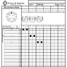 Переключатель CA11-SF6198-603 FT2 +S0 M470/A1A +G221