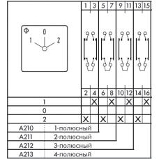 Переключатель AD12-A212-623 EF