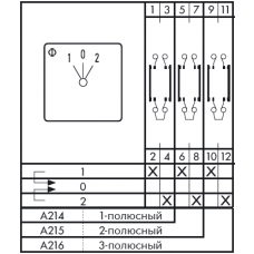 Переключатель CH10-A216-600 E +S0 M120/B11A +F072