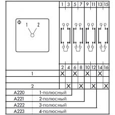 Переключатель CG4-A220-607 E-V