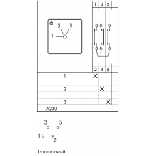 Переключатель CAD11-A230-600 ED +M999/470 +G211
