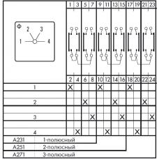 Переключатель CA10 A231/GBA002 *FT