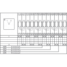 Переключатель CA10-1-A372-600 FT2